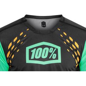 100% R-Core-X DH Pyöräilypaita Miehet, black/cyan